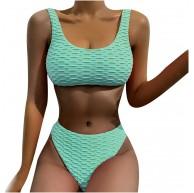 Junjie Bienenwabe Bikini Rosa Bekinis FüR Damen Push Up Sport Bikini Damen Frauen Plus Size Print Tankini Badeanzug Badeanzug Beachwear Gepolsterte Badebekleidung Bekleidung