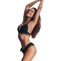 OIKAY Dreieck Frauen Bademode Bikini Set Reißverschluss Push up Damen Bademode Bandage Bikini Set Push-Up Gepolsterter BH Bade Beachwear Bekleidung