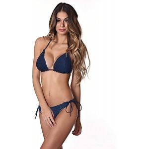 RELLECIGA Damen Crochet Trim Triangel Bikini Set Bekleidung