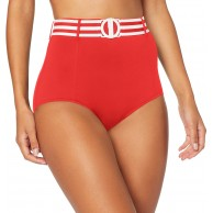 Seafolly Damen Belted High Waisted Pant Bikinihose Bekleidung