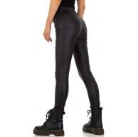 Ital Design Damen Lederoptik Push UP Skinny Hose Bekleidung
