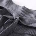 RRMY Damen Kaschmir Mix Hose Hohe Taille Weites Bein Strickhose Bekleidung