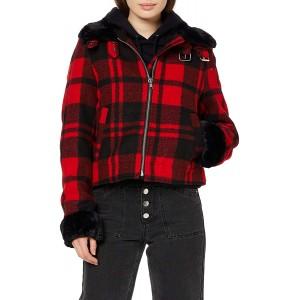 Urban Classics Damen Jacke Plaid Flanell Jacket im Holzfäller-Stil Bekleidung