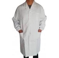 Allence Kittel Weiß Damen Herren Laborkittel 100% Baumwolle Arzt Kostüme Apotheker Mantel Reverkragen mit Taschen Bekleidung