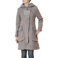 Caspar MTL011 Damen Mantel mit Wollanteil Bekleidung