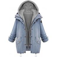 iHENGH Damen Winter Jacke Dicker Warm Bequem Slim Parka Mantel Lässig Mode Frauen beiläufige Fester Outwear Bekleidung