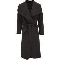 Islander Fashions Womens Trench Waterfall italienischen Duster Mantel Damen Franzsisch Belted Long Jacket S 2XL Bekleidung