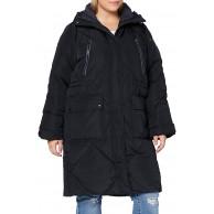 Lee Womens Elongated Puffer Jacket Black XL Bekleidung