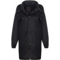 Malito Damen Kurz-Mantel mit Kapuze | lässige Übergangsjacke | Oversize Parka - Jacke JF1851 schwarz M Bekleidung