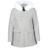 Naf Naf Azali Mäntel Damen Grau - DE 42 EU 44 - Mäntel Outerwear Bekleidung