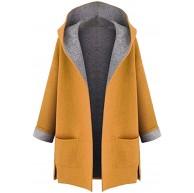 OIKAY Damen Jacke Winterjacke Kurzmantel Damenmantel Mantel Mittellange Front Mäntel Tops Bekleidung