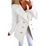 Okseas Damen Winter Mantel Klassischen Doppelten Breasted Trenchcoat Warm Schlank Vintage Jacke Windmantel Outwear Damen Wollmantel Bekleidung